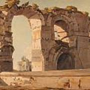 The Claudian Aquaduct Rome Poster