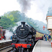 The Climb Into Goathland Station Poster