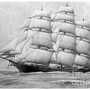 The Clippership Taeping Under Full Sail Poster