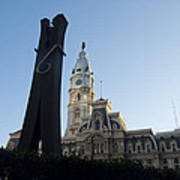 The Clothes Pin Statue And City Hall - Philadelphia Poster