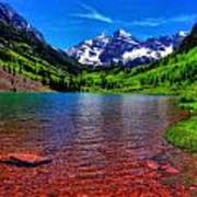 The Colors Of Maroon Bells In Summer Poster