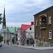 The Corner Of Rue Sainte Claire Overlooking Saint Jean Baptist Church Poster