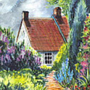 The Cottage Garden Path Poster