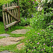 The Cottage Garden Walkway Poster