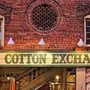 The Cotton Exchange Poster by Cynthia Guinn