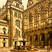 The Court House-hamburg-germany - Between 1890 And 1900 Poster