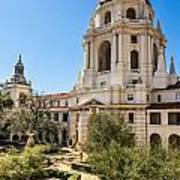 The Courtyard - Beautiful Pasadena City Hall. Poster