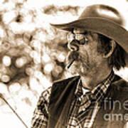 The Cowboy Angler Poster
