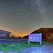 The Craggy Pinnacle Visitors Center At Night Poster