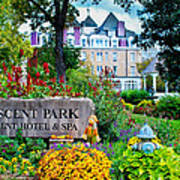 The Crescent Hotel In Eureka Springs Arkansas Poster by Gregory Ballos