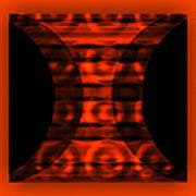 The Curtain - Orange  Poster