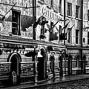 The Czech Inn - Dublin Ireland In Black And White Poster