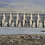 The Dalles Dam Along Columbia River Poster