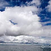 Cloudscape Over Lake Titicaca Peru Poster