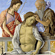 The Dead Christ Supported By Saints Poster