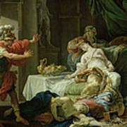 The Death Of Cleopatra, 1755 Oil On Canvas Poster