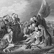 The Death Of General Wolfe, 1759, From The History Of The United States, Vol. I, By Charles Mackay Poster