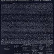 The Declaration Of Independence In Negative  Poster