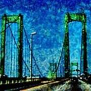 The Delaware Memorial Bridge Poster by Angelina Vick