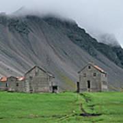 The Deserted Farm Horn In Iceland Poster