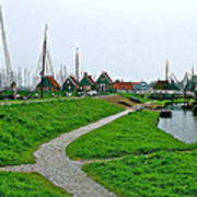 The Dike In Enkhuizen-netherlands Poster