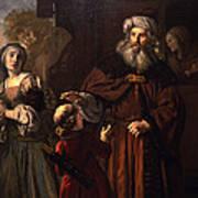 The Dismissal Of Hagar, 1650 Poster