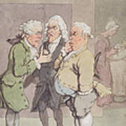 The Doctors Consultation, 1815-1820 Pen And Ink And Wc Over Graphite On Paper Poster