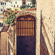 The Door With Overview Of Ronda Poster