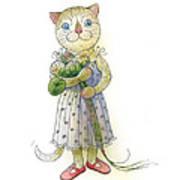 The Dream Cat 01 Poster by Kestutis Kasparavicius