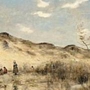 The Dunes Of Dunkirk Poster by Jean Baptiste Camille Corot