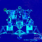 The Eagle Apollo Lunar Module In Blue Poster