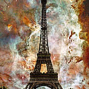 The Eiffel Tower - Paris France Art By Sharon Cummings Poster
