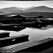 The Elkins Marina On Priest Lake Idaho Poster