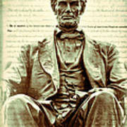 The  Emancipation Proclamation And Abraham Lincoln Poster