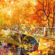 The Embassay Of Autumn - Palette Knife Oil Painting On Canvas By Leonid Afremov Poster
