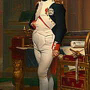The Emperor Napoleon In His Study 1812 Poster