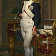 The Emperor Napoleon In His Study Poster