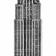 The Empire State Building Poster by Luciano Mortula