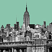 The Empire State Building Pantone Jade Poster
