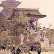 The Entrance To The Temple Of Kiyomizu Dera Kyoto Poster