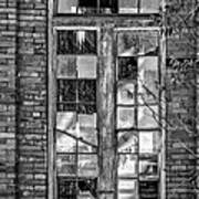 The Factory Window Bw Poster
