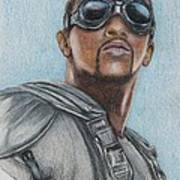 The Falcon / Anthony Mackie Drawing by Christine Jepsen