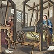 The Fellow Prentices At Their Looms Poster