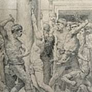 The Flagellation Of Christ Poster by William Adolphe Bouguereau
