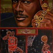 The Flight Instructor Feat Michael Jordan Poster by D Rogale