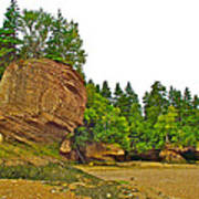 The Flowerpots At Hopewell Rocks On Bay Of Fundy-new Brunswick Poster