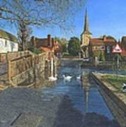 The Ford At Eynsford Kent Poster