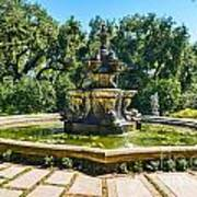 The Fountain - Iconic Fountain At The Huntington Library. Poster
