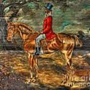 The Fox Hunt With Light Antique Store Mural Griffin Georgia Art Poster