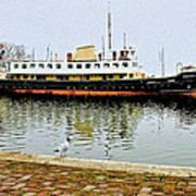 The Friesland In Enkhuizen Harbor-netherlands Poster